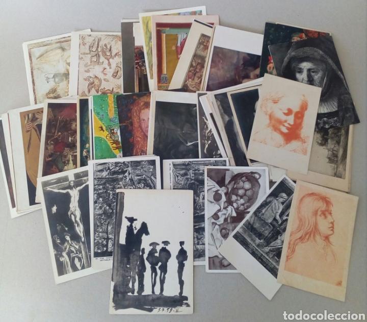 GRAN LOTE DE 97 TARJETAS POSTALES DE ARTE. (Postales - Postales Temáticas - Arte)