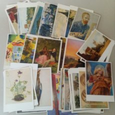 Postales: GRAN LOTE DE 89 TARJETAS POSTALES DE ARTE.. Lote 131250694