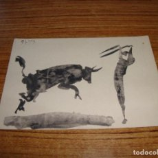 Postales: (ALB-TC-26) POSTAL PICASSO TOROS Y TOREROS CERCLE D'ART PARIS 1961 SIN CIRCULAR. Lote 132966466