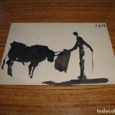 Postales: (ALB-TC-26) POSTAL PICASSO TOROS Y TOREROS CERCLE D'ART PARIS 1961 SIN CIRCULAR. Lote 132966570