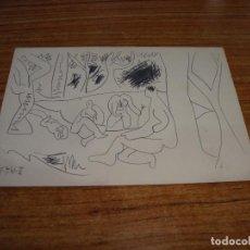 Postales: (ALB-TC-26) POSTAL PICASSO LES DEJEUNERS CERCLE D'ART PARIS 1962 SIN CIRCULAR. Lote 132966658