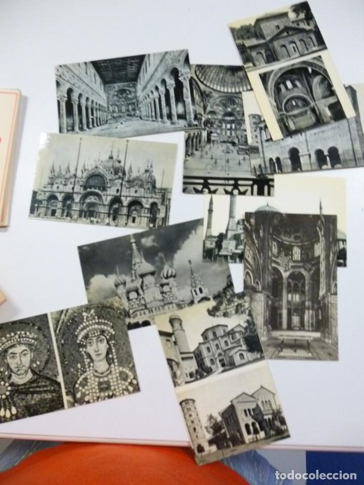 Postales: Lote de 5 carpetas con 50 postales Arte Griego Bizantino Egipcio Etrusco y Romano Estamperia d´art - Foto 8 - 133432694