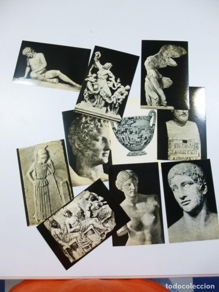 Postales: Lote de 5 carpetas con 50 postales Arte Griego Bizantino Egipcio Etrusco y Romano Estamperia d´art - Foto 9 - 133432694