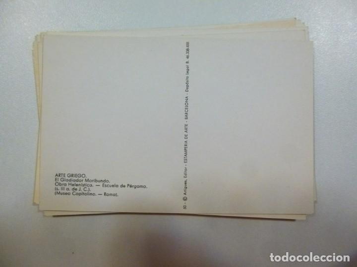 Postales: Lote de 5 carpetas con 50 postales Arte Griego Bizantino Egipcio Etrusco y Romano Estamperia d´art - Foto 10 - 133432694