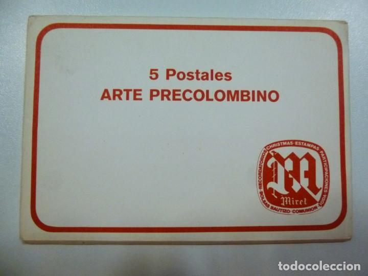 Postales: Lote de 4 carpetas con 30 postales Arte Griego Egipcio Prehistorico Precolombino Editorial Miret - Foto 3 - 133433170