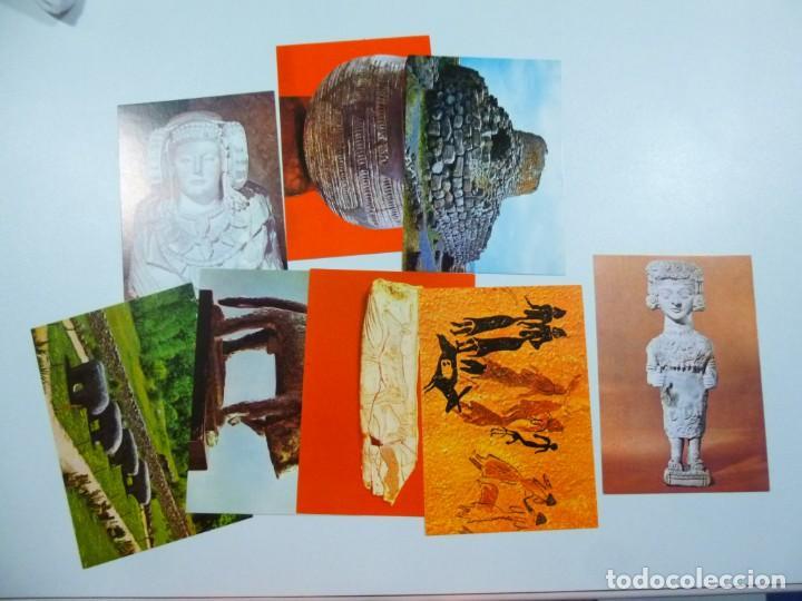 Postales: Lote de 4 carpetas con 30 postales Arte Griego Egipcio Prehistorico Precolombino Editorial Miret - Foto 6 - 133433170
