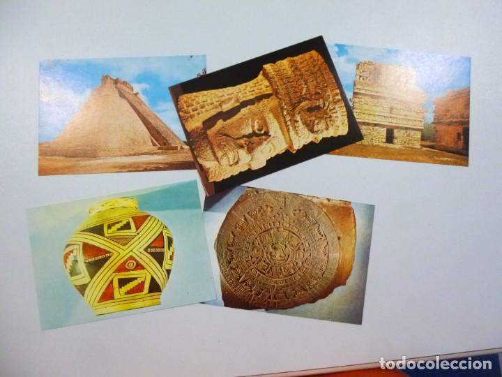 Postales: Lote de 4 carpetas con 30 postales Arte Griego Egipcio Prehistorico Precolombino Editorial Miret - Foto 8 - 133433170