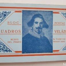 Postales: BLOC POSTAL. CUADROS DE VELAZQUEZ. MUSEO DEL PRADO.24 TARJETAS.. Lote 133473746