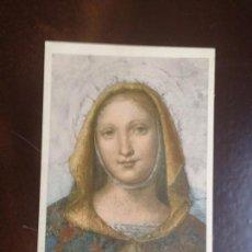 Postales: LA VERGINE (BERNARDINO LUINI) - PINACOTECA DI BRERA - MILANO - CIRCULADA 1927. Lote 133483350