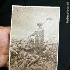 Postales: ANTIGUA FOTO POSTAL DE FIGURA TERRACOTA FIRMADA ...100 T ---1925. Lote 133856182