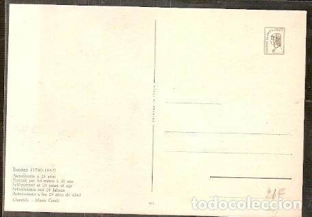 Postales: Dahomey & Postal Maximo , Ingres, Pintura Autorretrato, 1967 (53) - Foto 2 - 134393794