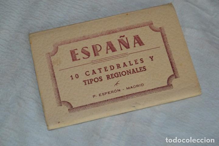AANTIGUO SET / LIBRITO DE POSTALES CON BRILLO / BRILLANTINA - ESPERÓN - ESPAÑA 10 CATEDRALES (Postales - Postales Temáticas - Arte)