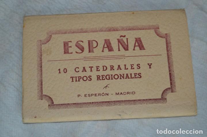 Postales: AANTIGUO SET / LIBRITO DE POSTALES CON BRILLO / BRILLANTINA - ESPERÓN - ESPAÑA 10 CATEDRALES - Foto 2 - 134647118