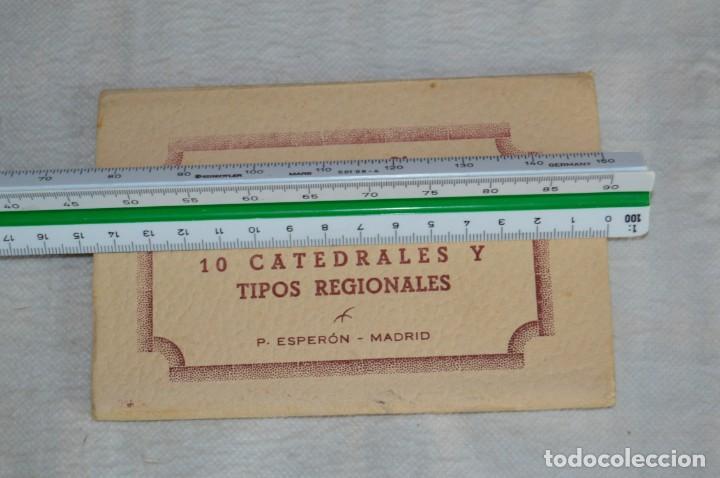 Postales: AANTIGUO SET / LIBRITO DE POSTALES CON BRILLO / BRILLANTINA - ESPERÓN - ESPAÑA 10 CATEDRALES - Foto 4 - 134647118