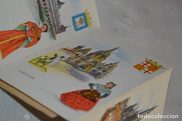 Postales: AANTIGUO SET / LIBRITO DE POSTALES CON BRILLO / BRILLANTINA - ESPERÓN - ESPAÑA 10 CATEDRALES - Foto 11 - 134647118