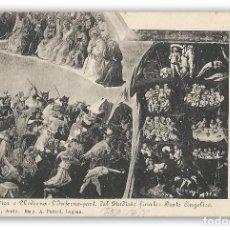 Postales: 1950 - EL INFIERNO - BEATO ANGÉLICO - POSTAL NO CIRCULADA - ARTE ITALIANO - JUICIO FINAL. Lote 134832270