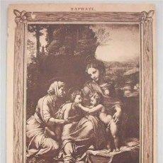 Postales: ANTIGUA TARJETA POSTAL - SAGRADA FAMILIA - RAPHAEL - MUSEO DEL LOUVRE . Lote 135161686