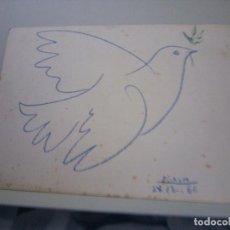 Postales: PICASSO POSTAL PALOMA DE LA PAZ 1961. Lote 135388338