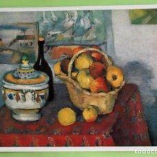 Cartoline: CUADRO: NATURALEZA MUERTA Y SOPERA DE PAUL CÉZANNE. NUEVA. COLOR. Lote 135751091