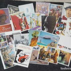Postales: CURIOSO LOTE DE 23 POSTALES DE EXPOSICIONES Y ACTIVIDADES CULTURALES DE LA UNIVERSIDAD DE MÁLAGA. Lote 135769826