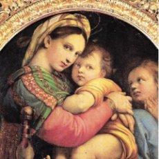 Postales: == B66 - POSTAL - MADONNA DELLA SEGGIOLA - GALLERIA PALATINA - FIRENZE. Lote 136813522