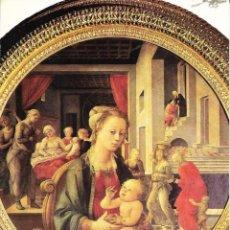 Postales: == B67 - POSTAL - MADONNA COL BAMBINO - GALLERIA PALATINA - FIRENZE. Lote 136813822