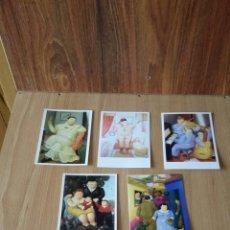 Postales: TARGETA POSTAL LOTE 7 POSTALES SIN CIRCULAR FERNANDO BOTERO. Lote 137211106