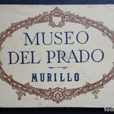 Postales: ANTIGUA CARPETA CON 20 POSRTALES DE MURILLO, MUSEO DEL PRADO, DE HAUSER Y MANET . Lote 137821762