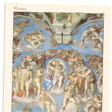 Postales: CAPILLA SIXTINA - JUICIO FINAL DE MIGUEL ANGEL - CIUDAD DEL VATICANO - ROMA - SIN CIRCULAR. Lote 138076466