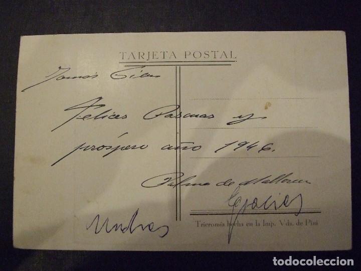Postales: POSTA ANTIGUA - EL DESCONSOL - ESCULTURA T. VILA PALMA DE MALLORCA - VIUDA DE PIZA CIRCULADA 1946 - Foto 2 - 139180178