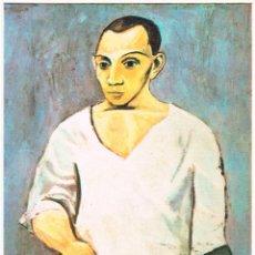 Postales: PICASSO, AUTORRETRATO CON PALETA DE PINTOR EN LA MANO, EDITOR: SCHORR (AÑO 1963). Lote 139428906