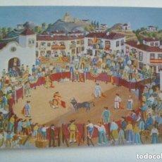 Postales: POSTAL PINTURA NAIF DE MANUEL BLASCO ALARCON: FERIA EN UN PUEBLO. PATRONATO TURISMO COSTA DEL SOL. Lote 139684634