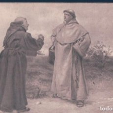 Postales: POSTAL DOS MONJES CONVERANDO - STORMY - BY CHARLES J STANILAND - TWO MONKS MEET ON A HIGH ROAD . Lote 139890502