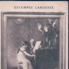 Postales: POSTAL STAMPES LAROUSSE - MUENIER - LA LECON DE CLAVECIN - MUSEE DU LUXEMBOURG - CIRCULADA. Lote 139891190