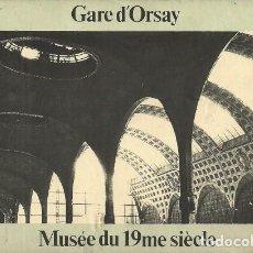 Postales: GARE D'ORSAY - MUSÉE DU 19ME SIÈCLE - COAC - 80'S. Lote 140074654