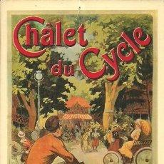 Postales: CHÂLET DU CYCLE - BOIS DE BOULOGNE. LONGCHAMPS - B3 - NOS ELEGANTES BICYCLETTES. Lote 140075958