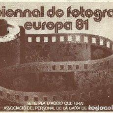 Postales: V BIENNAL DE FOTOGRAFIA EUROPA 81 - CULTURA I TRADICIONS POPULARS - 1982. Lote 140099394