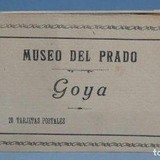 Postales: LIBRO 20 POSTALES. MUSEO DEL PRADO. GOYA. Lote 140833454
