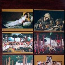 Postales: 10 POSTALES DE CUADROS FAMOSOS PERLA COLOR Y BRILLO ESPECIAL NUEVO. Lote 141947194