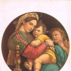 Postales: RAFAEL: LA VIRGEN DE LA SILLA, GALERIA PITTI, FLORENCIA. Lote 142083210