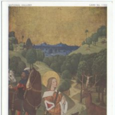 Postales: NATIONAL GALLERY. MASTER OF WERDEN, CONVERSION OF ST. HUBERT.. Lote 143816786