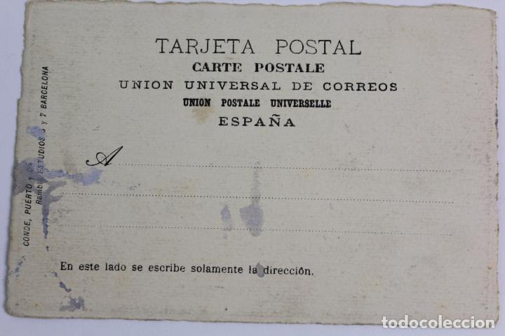 Postales: P-8954. POSTAL PINTADA A MANO. ACUARELA. AÑO 1914. BARCELONA. SIN CIRCULAR. CON FIRMA. - Foto 2 - 144735082