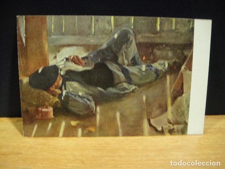 LOPEZ MEZQUITA - LA SIESTA - EDICIONES VICTORIA , COLL SALIETI - SIN CIRCULAR (Postales - Postales Temáticas - Arte)