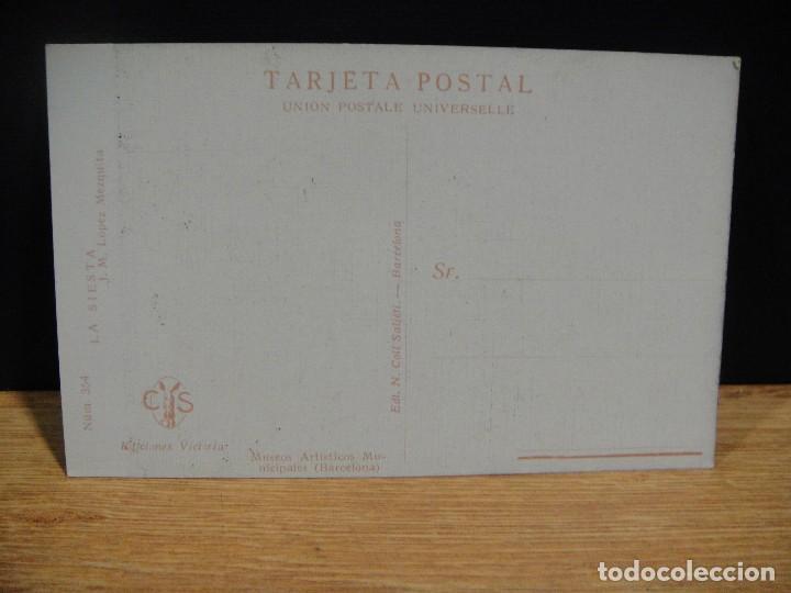 Postales: lopez mezquita - la siesta - ediciones victoria , coll salieti - sin circular - Foto 2 - 147760050
