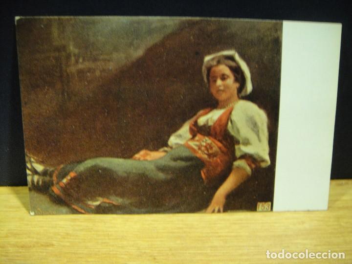 R. DE MADRAZO - CAMPESINA ROMANA - EDICIONES VICTORIA , COLL SALIETI - SIN CIRCULAR (Postales - Postales Temáticas - Arte)