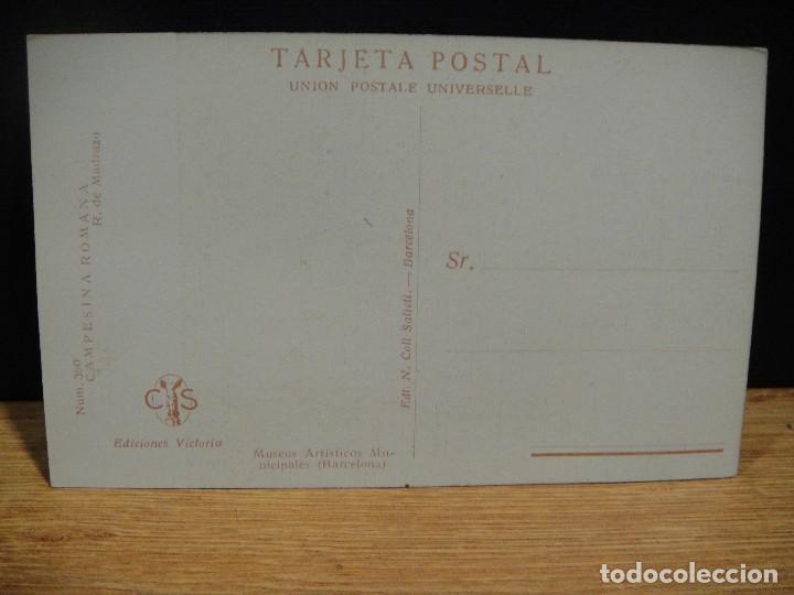 Postales: r. de madrazo - campesina romana - ediciones victoria , coll salieti - sin circular - Foto 2 - 147760202