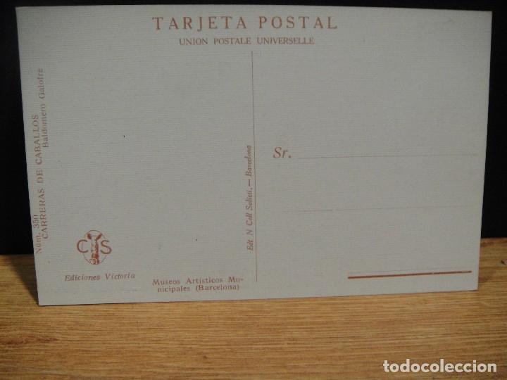 Postales: baldomero galofre - carreras de caballos - ediciones victoria , coll salieti - sin circular - Foto 2 - 147760398
