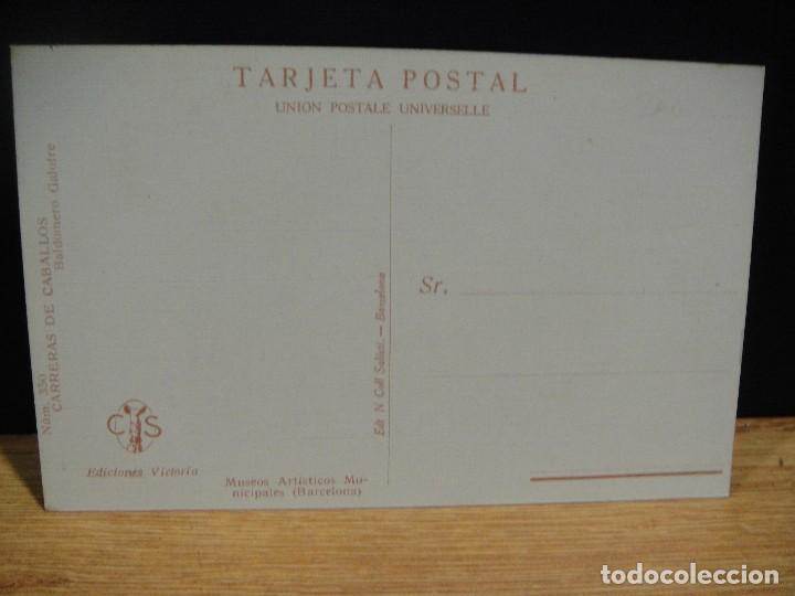 Postales: baldomero galofre - carreras de caballos - ediciones victoria , coll salieti - sin circular - Foto 2 - 147760490
