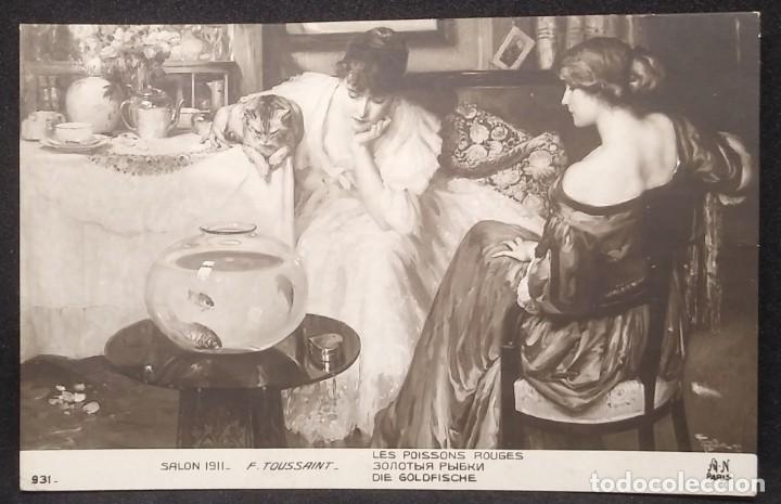 Salon 1911 F. Toussaint Les poissons rouges 931 París Escrita 16/6/911 - 148008150