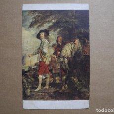 Postales: MUSÉE DU LOUVRE. ANTON VAN DYCK. RETRATO DE CARLOS I. N. 1197 SIN CIRCULAR. Lote 148358494